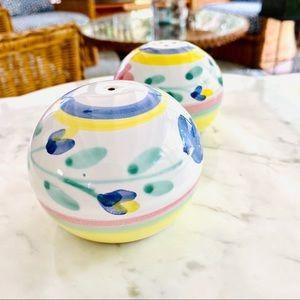 {Authentic} Caleca Ceramic Salt & Pepper Shakers